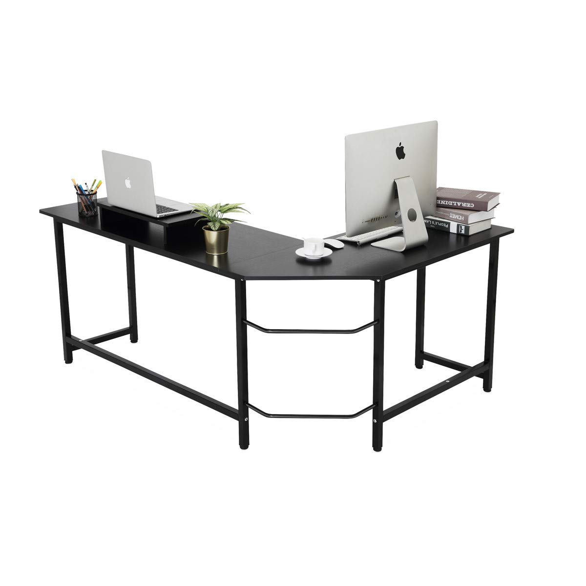 Modern Simple Style Desk for Home Office Coleshome Computer Desk 31 Sturdy Writing Desk,Teak