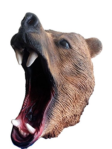 Rubber Johnnies International Grizzly Bear Mask , Latex Mask , Animal Mask , Fancy Dress