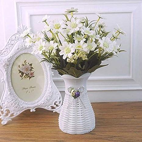 Creativo multiusos flor artificial pequeña mesa de muebles en ...