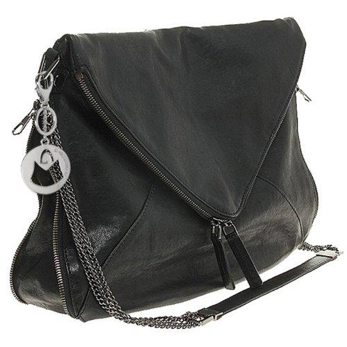 MG Collection Solara Envelope Foldover Cross Body Shoulder Bag, Black, One Size