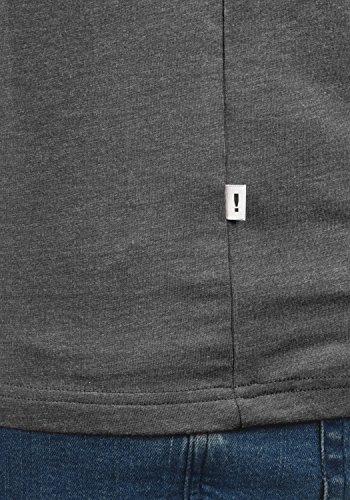 Para Manga Grey Camiseta 8236 De Con Redondo Melange Hombre shirt Corta Cuello Básica Bastian T solid 8Tq4I