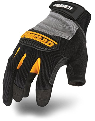 Ironclad Framer Work Gloves FUG, High Dexterity, Performance Fit, Durable, Machine Washable, Sized S, M, L, XL, XXL (1 Pair) ()