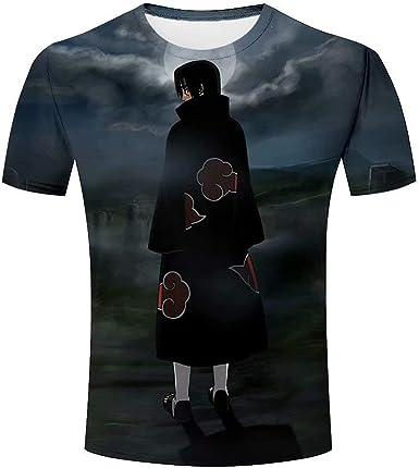 Hombre 3D Graphic Naruto Uchiha Itachi Print Camisetas Manga Corta Tees Top Camisa: Amazon.es: Ropa y accesorios
