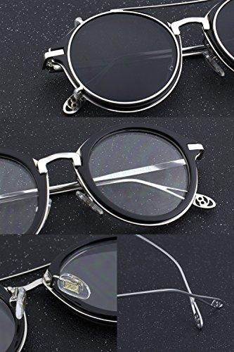 soleil de noir Homme Noir Argenté Lunettes argenté CGID Argenté zEgxB5