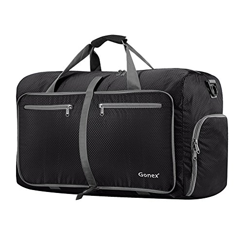 Gonex 60L Foldable Travel Duffel Bag Water & Tear Resistant, ()