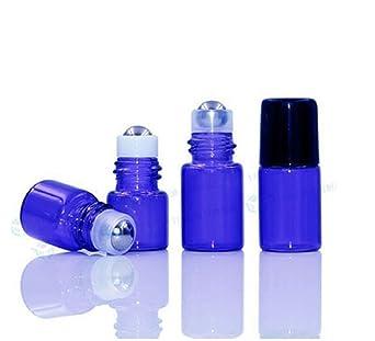 CMJ 10 x 1 ml rollo en botellas de vidrio aceite esencial de metal Roller ámbar