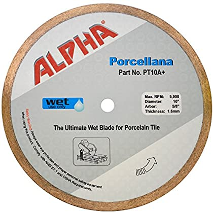 Image of 10' Alpha Porcellana Wet Diamond Blade Home Improvements