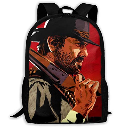 NEWBAG105FASHION Red Dead Redemption Gun Unisex Student Adults Schoolbag Book Bags Backpack Bookbags Backbag Daypack Camping Gym School Office for Boys Girls (Red Dead Redemption Best Pistol)