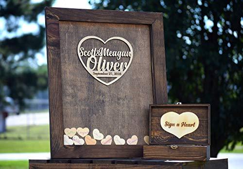 Handmade Wooden Heart - Heart Drop Guest Book Wood Frame - Alternative Guest Book - Wedding Drop Box - Wooden Guest Book - Guestbook Ideas - Heart Drop Guest Book - Drop Box