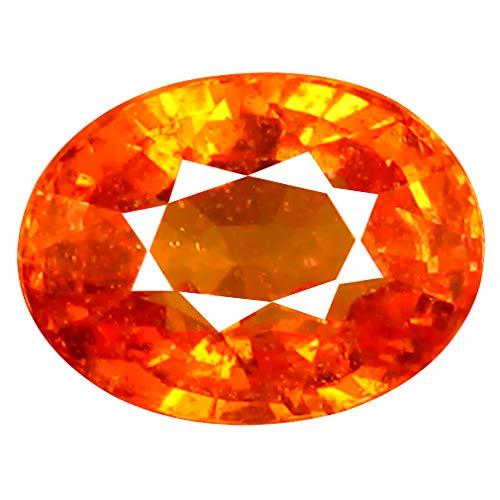 1.72 ct AAA+ Oval Shape (7 x 5 mm) Unheated/Untreated Fanta Orange Tanzanian Spessartine Garnet Natural Loose Gemstone