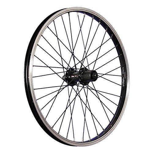 Taylor-Wheels 20 Zoll Hinterrad B/üchel Kastenfelge Shimano FH-TX500 7-10 Schwarz
