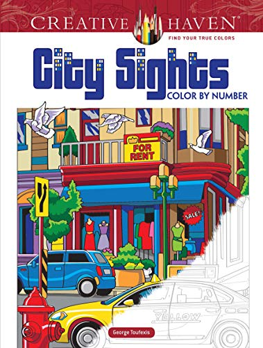 Pdf Crafts Creative Haven City Sights Color By Number (Adult Coloring)