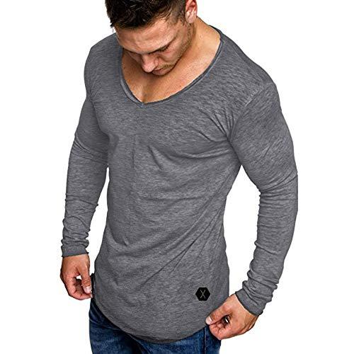 Maniche Grigio Bcfuda Corta Slim Uomo T Fit shirt Da A Palestra Uomo✿top Manica Bodybuilding Sportivo pqCrOZwp