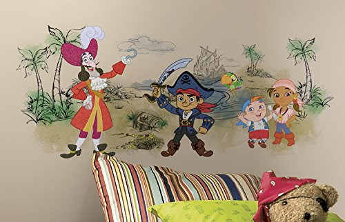 RoomMates RMK3031TB Captain Jake & The Never Land Pirates Scene Peel and Stick Giant Wall Graphic