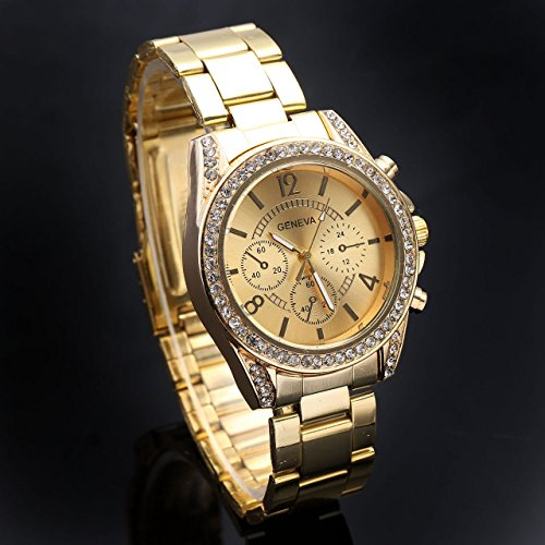 Top-Plaza-Unisex-Gold-Fashion-Womens-Mens-Crystal-Accented-Analog-Quartz-Bracelet-Watch