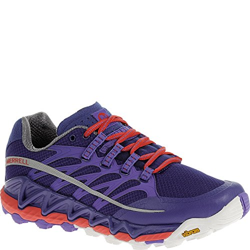 Merrell Women's All Out Peak Trail Running Shoe, Royal Blue/Orange, 8.5 M US