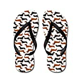 CafePress Dachshund White - Flip Flops, Funny Thong Sandals, Beach Sandals
