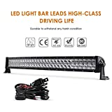 Auxbeam 32' 180W Curved LED Light Bar 5D Lens 18000LM Spot Flood Combo Beam Driving Light with Wiring Harness