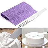 Stainless steel cream spatula Silicone molds Cake Lace Cake Mat Embossing for sugar lace molds cake Making cakes Making