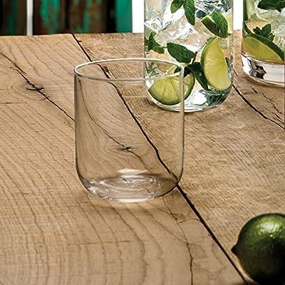 Luigi Bormioli 11561/01 Sublime 15.25 oz DOF Double Old Fashioned Glasses, Set of 4 Clear