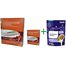 Promax Nutrition, Energy Bars, Double Fudge Brownie, 12 Bars, 2.64 oz (75 g) Each( 2 PACK ) + Navitas Organics, Organic, Mulberry Berries, 8 oz (227 g)
