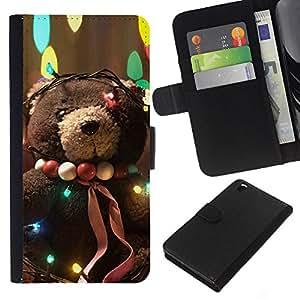 EJOY---La carpeta del tirón la caja de cuero de alta calidad de la PU Caso protector / HTC DESIRE 816 / --Adorable oso