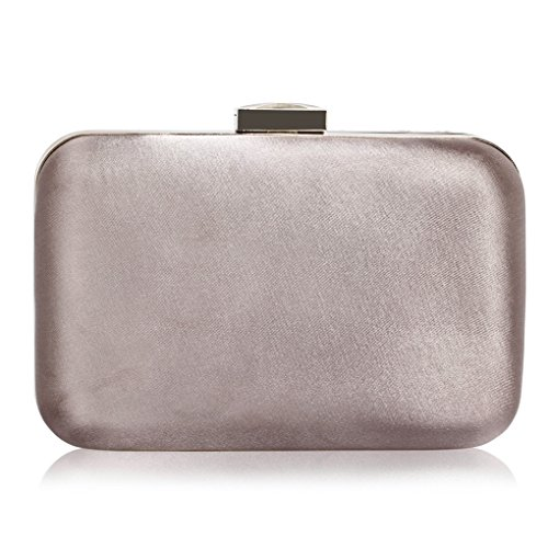 For Wedding Fashion Party Bag Bridal School Cw006 Bags Evening Clutch Grey Leahward Women's Prom w0Zx8p