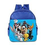 Kids Looney Tunes School Backpack Cartoon Baby Boys Girls School Bags RoyalBlue