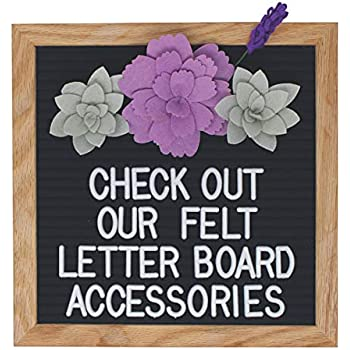 00b7c1149 Felt Letter Board Accessories – Letter Board Succulent Decorations Perfect  for Photo Props and Decor Works with All Changeable Message and  Letterboards!