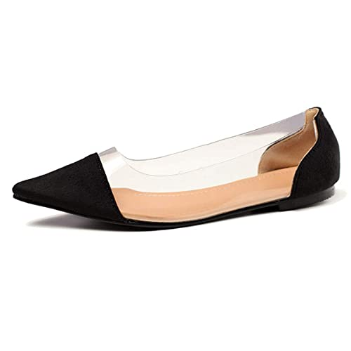 edf9b9f26cab67 Orangetime PVC Pointed Toe Shoes Women Summer PU Flats Comfort Flat Work Shoes  Slip On Suede