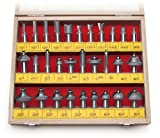 MLCS 8369 1/2-Inch shank Carbide-tipped Router Bit Set, 30-Piece