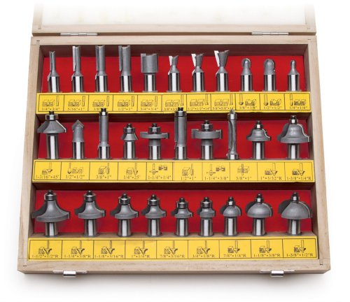MLCS 8369 1/2-Inch shank Carbide-tipped Router Bit Set, ()