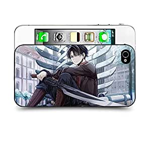 Case88 Designs Attack on Titans Levi Protective Snap-on Hard Back Case Cover for Apple Iphone 4 4s
