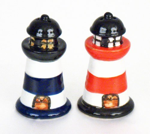 Beachcombers SS-BCS-03195 Lighthouse Salt & Pepper Seasonal Celebration