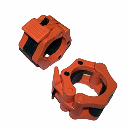 E2shop 5CM 50mm Quick Release Pair of Locking 2 Olympic Size Barbell Clamp Collar Barbell Clamp Collar Clip Weight Dumbbell Spinlock Lift a Pair