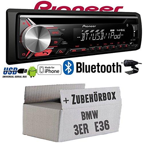 BMW 3er E36 - Pioneer DEH-3900BT - Bluetooth | CD | MP3 | USB | Android - iPhone Autoradio - Einbauset JUST SOUND best choice for caraudio