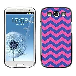 Paccase / SLIM PC / Aliminium Casa Carcasa Funda Case Cover para - Purple Pink Girly Pattern - Samsung Galaxy S3 I9300