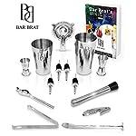 bar set, Premium 14 Piece Cocktail Making Set & Bar Kit by Bar Brat, JONGO