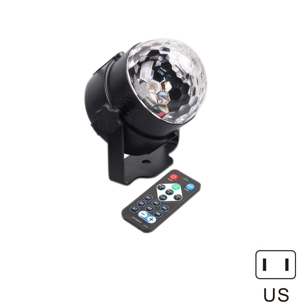 Qjoy Sound Activated Party Lights with Remote Control RBG Disco Ball Light for Parties Bar Wedding Club