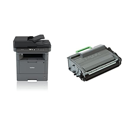 Brother DCP-L5500DN - Impresora multifunción láser monocromo (250 hojas, 40 ppm, USB 2.0) + Brother TN3480 - Tóner negro (8.000 páginas según ISO/IEC ...
