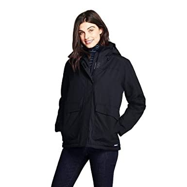 73c3d6e5820 Amazon.com  Lands  End Women s Hooded Squall Winter Jacket  Clothing