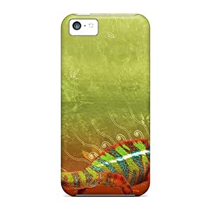 6Plus Case Cover For Iphone 5c - Retailer Packaging Colorful Chameleon Protective Case