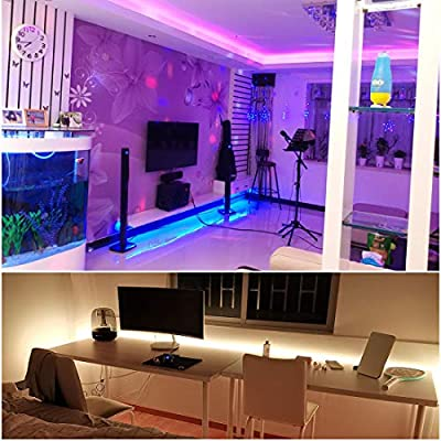 LED Strip Light, AMAZING POWER Waterproof Color Changing LED Strip Self Adhesive Rope Lights with IR Remote and 12V 2A Power Supply