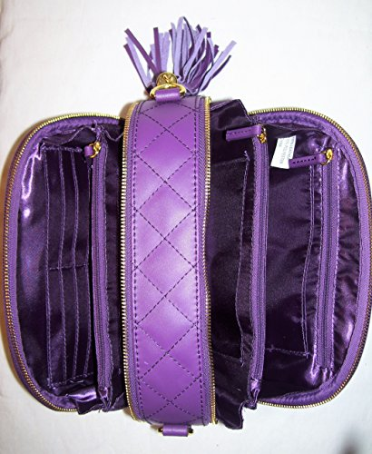 RFID amp; Crossbody Eggplant Joy Quilted Diamond Leather with Bag Genuine Iman zqxqHPTF