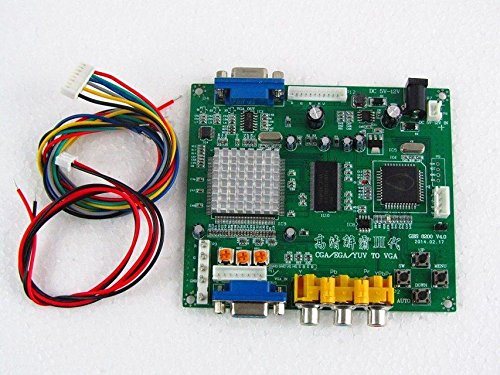 (Paddsun US New for Video Converter CGA/EGA/YUV/RGB to VGA HD Video Converter Board 1 VGA Output Arcade Jamma Game Monitor to LCD GBS-8200 )
