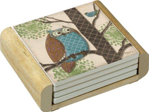 CounterArt Absorbent Coasters Wooden Fantasy