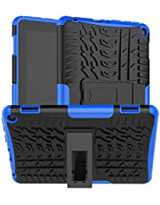 Boskin for Kindle Fire hd 8 case Fire hd 8 Plus case 2020 Release 10th Generation,Shockproof Kickstand Cover (Blue)