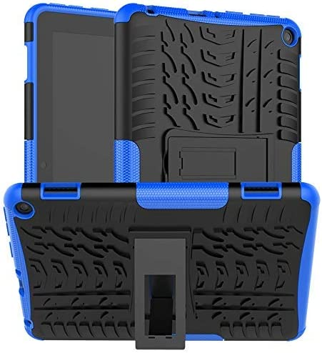 Boskin for Kindle Fire hd 8 case Fire hd 8 Plus case 2020 Release tenth Generation,Shockproof Kickstand Cover (Blue)
