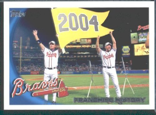 Atlanta Braves Franchise - 2010 Topps Baseball Card # 604 Atlanta Braves Franchise History - Atlanta Braves (Chipper Jones - 2004) MLB Trading Card