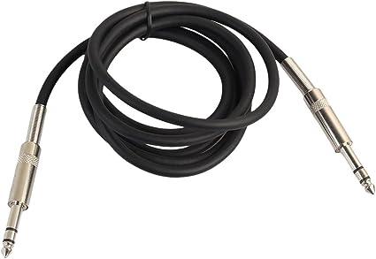 domybest 1/4 de metal Jack 6.35 mm Audio macho a macho Cable ...